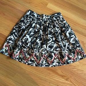 Odille geometric print A line skirt